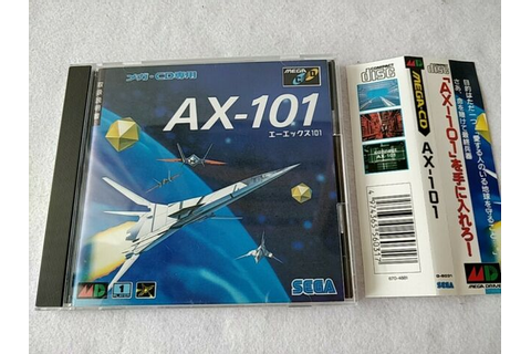 AX-101 (A/X-101) MEGA CD shooter game Boxed with W/Spine ...