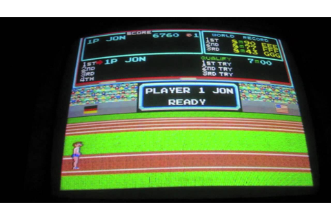 Track and Field Arcade Game Review - Konami Centuri Arcade ...