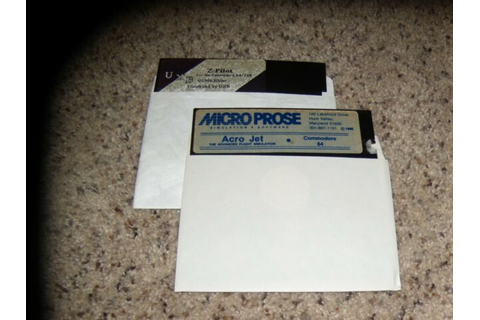 "Z-Pilot & Acro Jet Commodore 64 C64 Games on 5.25"" disks ..."