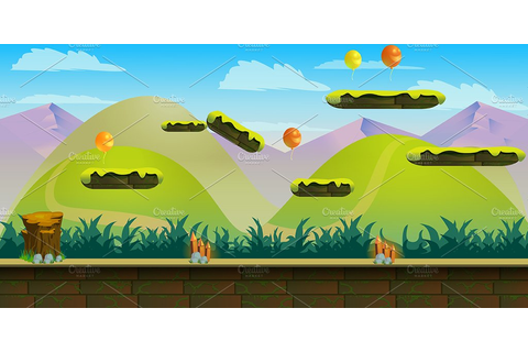 Jumping Game Background ~ Illustrations ~ Creative Market