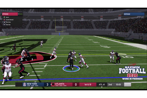 Maximum Football 2020 Exclusive Gameplay Camera Angles ...