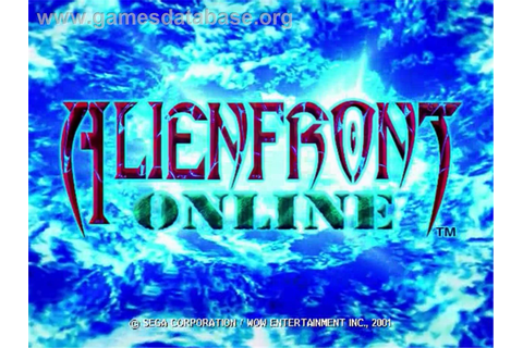 Alien Front Online - Sega Dreamcast - Games Database