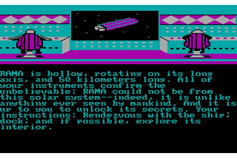 Download Rendezvous with Rama adventure for DOS (1985 ...