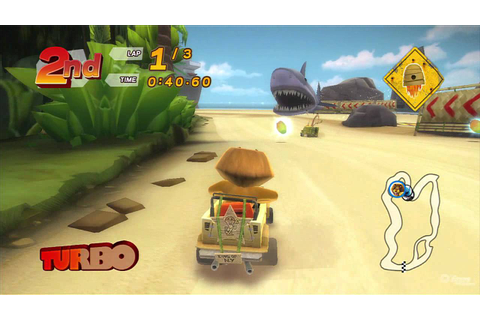 Madagascar Kartz PlayStation 3 Gameplay - Shark Beach ...