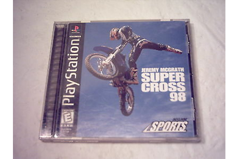 Playstation PS1 Game Jeremy McGrath SUPERCROSS 98 Complete ...