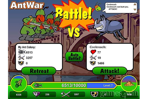 Ant War Download on Games4Win