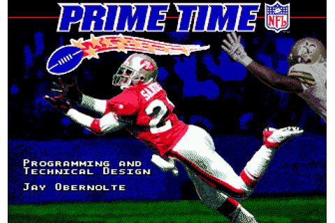 NFL Prime Time (1995) by Spectacular Games Mega Drive game