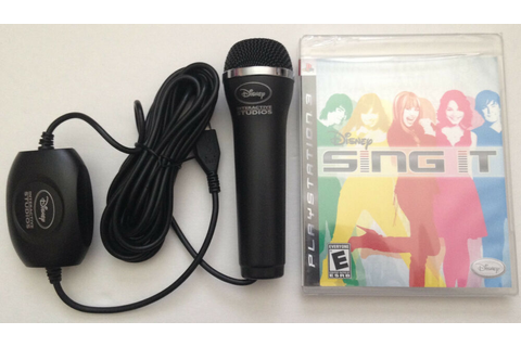 PS3 Disney Sing It Game & Microphone Karoake 712725005719 ...