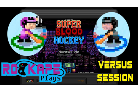 Super Blood Hockey - Splitscreen Gaming - YouTube