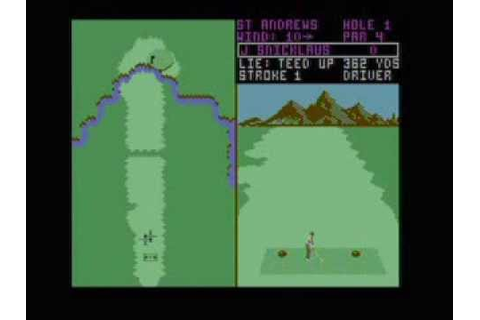 Commodore 64 Game - World Tour Golf 1987 (Electronic Arts ...