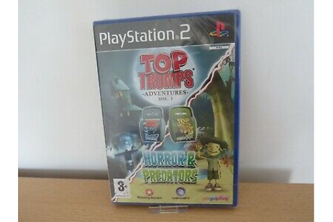 PS2 Top Trumps Adventures Vol. 1 Horror & Predators NEW ...