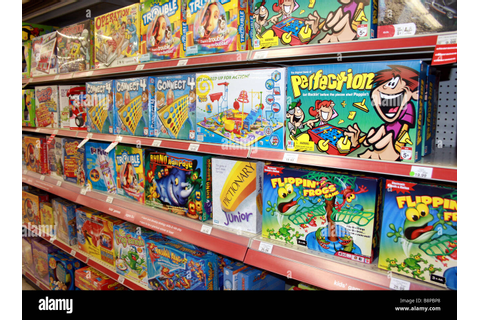 Board Games On Shelf In Toy Store, United States Stock ...