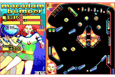 Macadam Bumper (1987) MS-DOS game