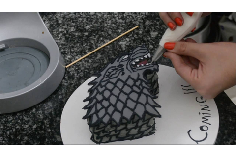 Bolo Game of Thrones - Casa Stark Cake - YouTube