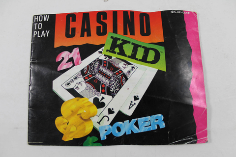 Manual - Casino Kid - Rare Nes Nintendo