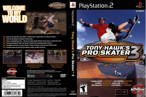 Tony Hawk Pro Skater 3 - Best TH Game Hands Down : nostalgia
