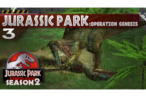 Jurassic Park: Operation Genesis || 3 || Baryonyx Fight ...