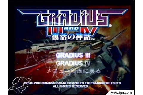 Gradius III and IV - IGN