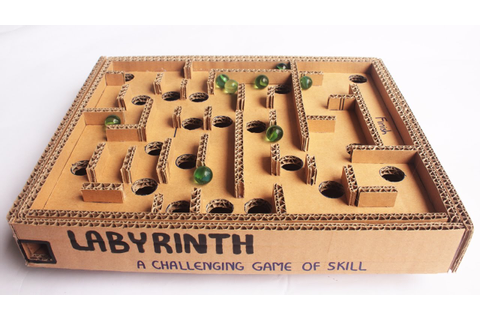 Board Game Marble Labyrinth From Cardboard How To Make ...