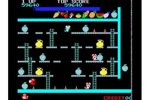 Arcade Game: Ponpoko (1982 Sigma Enterprises Inc.) - YouTube