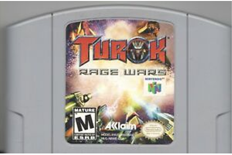 Video Game - Nintendo 64 - TUROK RAGE WARS - Pre-Owned ...