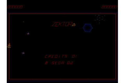 Zektor arcade video game by SEGA Enterprises (1982)