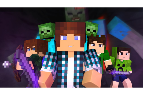 Minecraft Música ♫ - COM MEUS AMIGOS | Animation Minecraft (Feat ...