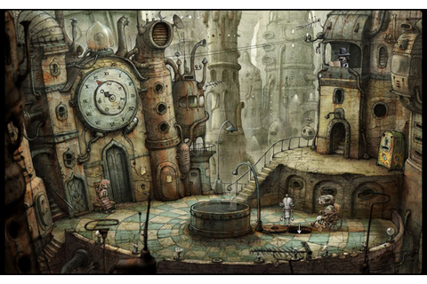 Machinarium: red wrench pipe puzzle under Church Square ...
