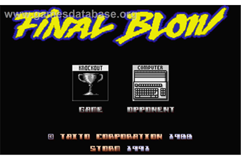 Final Blow - Atari ST - Games Database