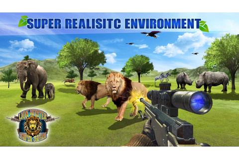Lion Hunter Sniper Safari - Animal Hunting Game - Android ...