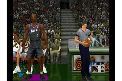 Dreamcast NBA 2k1 online - YouTube