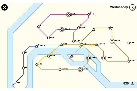 "Subway Development Games : ""mini metro"""
