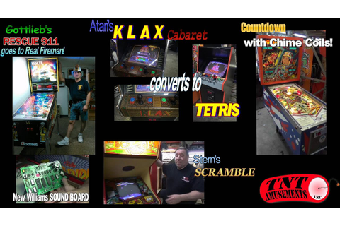 #985 KLAX to TETRIS Arcade Game, Gottlieb RESCUE 911 ...