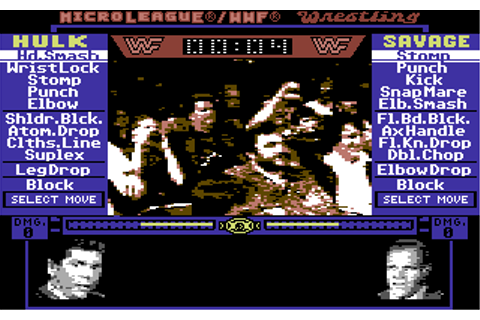 Download MicroLeague Wrestling (Commodore 64) - My Abandonware