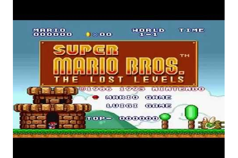 Super Mario Bros The Lost Levels Luigi Run Full Game ...