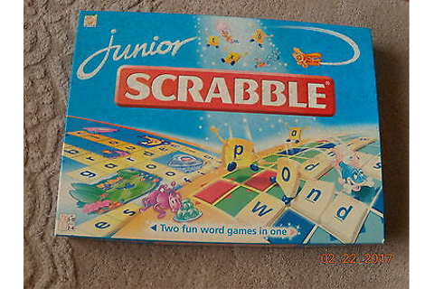JUNIOR SCRABBLE---Complete game 84 Pieces----Cond' V'Good ...