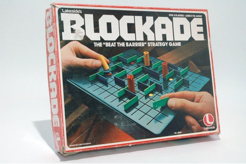Blockade Barrier Strategy Game from Lakeside 1979