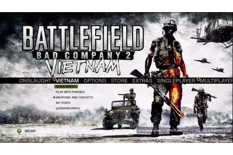Battlefield : Bad Company 2 Vietnam Menu Music - YouTube