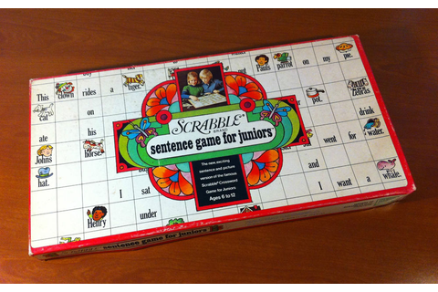 Scrabble Sentence Game For Juniors (1973, Selchow ...