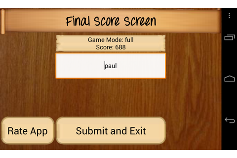 Countdown Game for Android - Final score submission ...