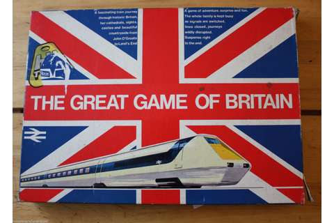 Vintage: Great Game of Britain:Train/Rail Board Game 1973 ...