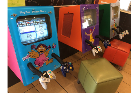 McDonalds video game setup was great, especially the Smash ...