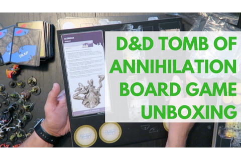 D&D Tomb of Annihilation Board Game Unboxing - YouTube