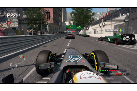 F1 2013 Gameplay Monaco 100% Race Lewis Hamilton - YouTube