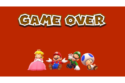 Super Mario 3D World - Game Over (All Characters) - YouTube