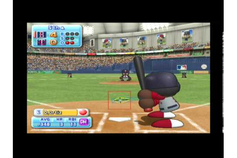 MLB Power Pros (Wii) ALCS Game #3 Twins @ Red Sox - YouTube