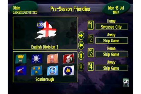 Vintage PS1: Premier Manager 98 - YouTube