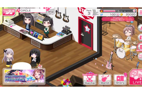 BanG Dream! Girls Band Party! Game: Gameplay #2 - YouTube
