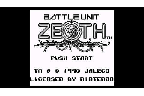 Battle Unit Zeoth (Game Boy) - BGM 04: Stage Complete ...