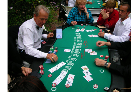 Casino party games like blackjack with chairs for 9 ...